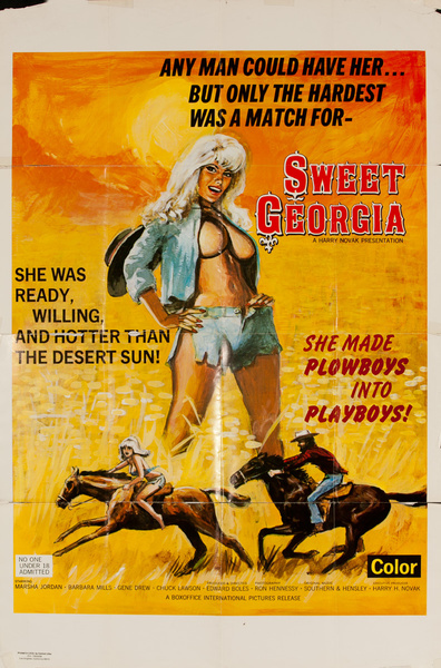 Sweet Georgia, Original American X Rated Adult Movie Poster