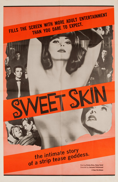Sweet Skin, Original American X Rated Adult Movie Poster