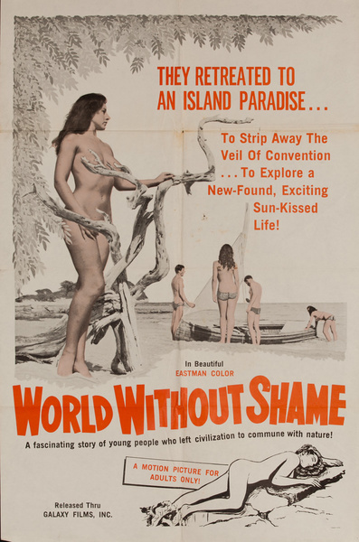 World Without Shame, Original American X Rated Adult Movie Poster
