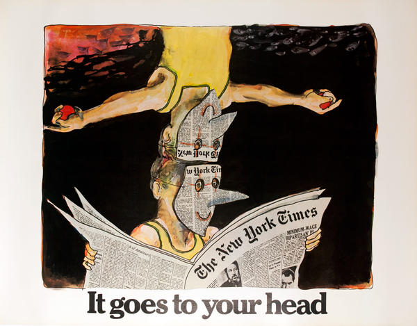 The New York Times -It Goes to Your Head, Original American Advertising Poster, Acrobats