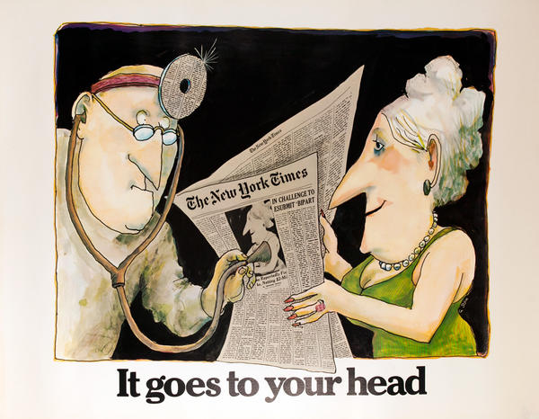 The New York Times -It Goes to Your Head, Original American Advertising Poster, Doctor