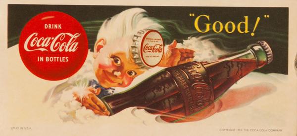 """Original Coka Cola Pen Blotter """"Good"""""""