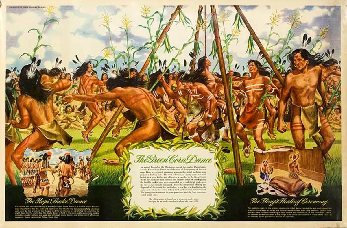 The Green Corn Dance Original Pontiac Dealer Poster