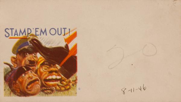 Stamp 'Em Out Original WWII Envelope