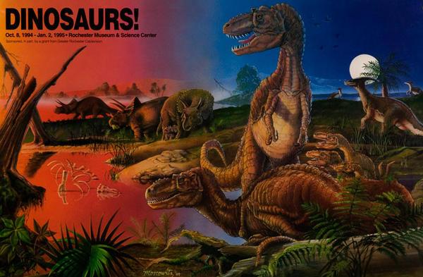 Dinosaurs! Original Children's Museum Advertising Poster