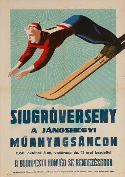 Budapest Honved Ski Jumper, Original Poster