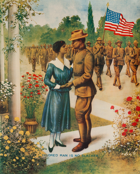 Colored Man Is No Slacker Original American WWI Poster