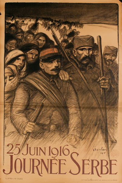 25 Juin 1916, Journee Serbe, Original French WWI Poster