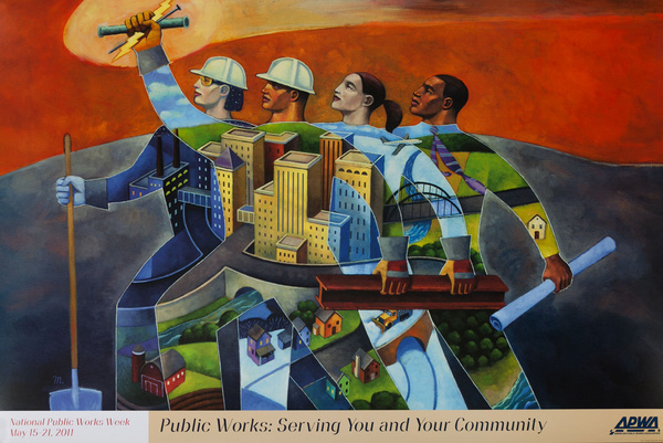 Original Public Works Week Poster, Public Works: Serving You and Your Community