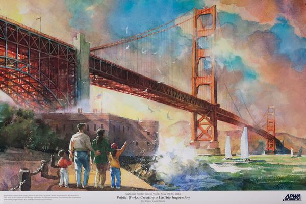 Original Public Works Week Poster, Public Works: Creating a Lasting Impression