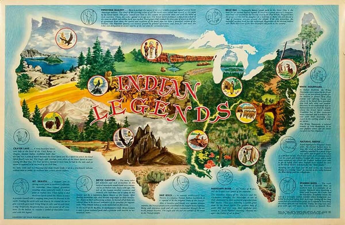 Indian Legends Original Pontiac Dealer Poster
