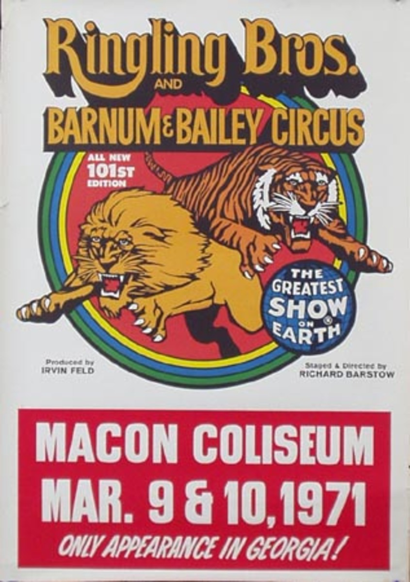 Ringling Brothers Barnum And Bailey RBBB Circus Original Vintage Poster 101st Edition