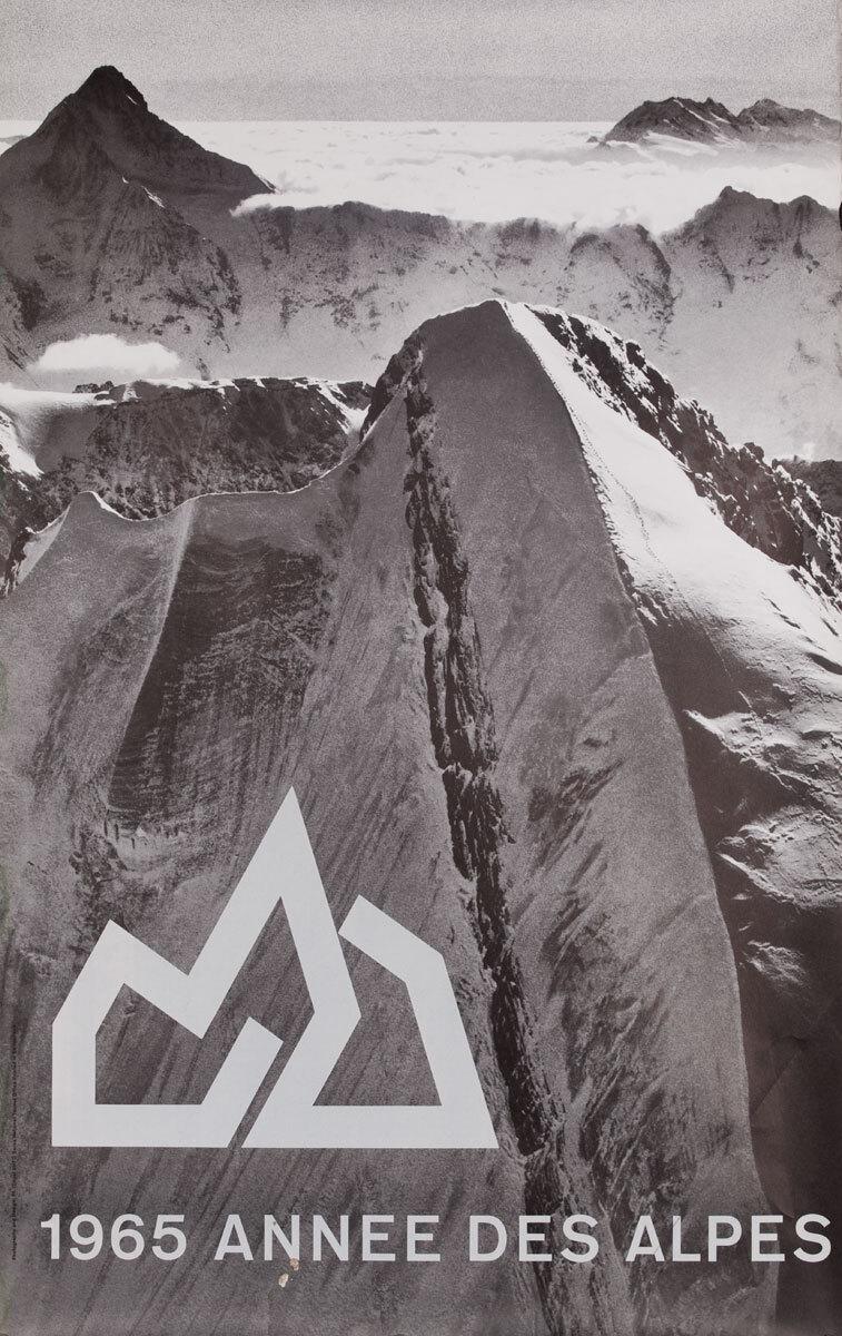 1965 Annee Des Alpes, Original Swiss Travel Poster
