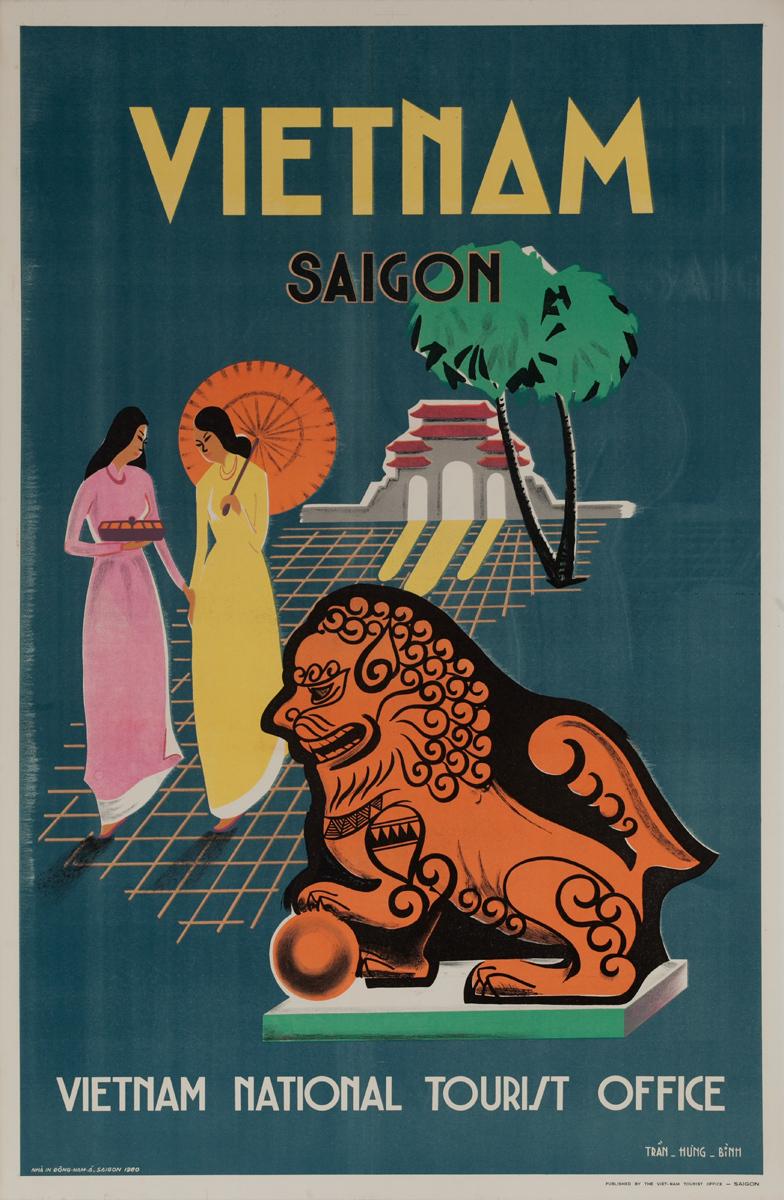 Vietnam National Tourist Office Original Travel Poster Saigon