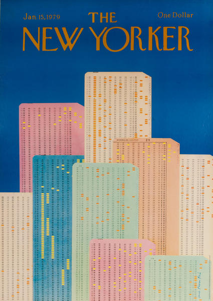 The New Yorker Original American Advertising Poster Punchcards