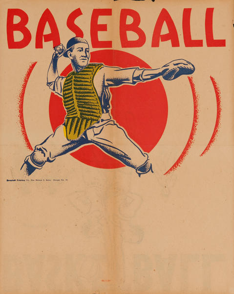 Campbell Print Company Stock Poster, Baseball Catcher