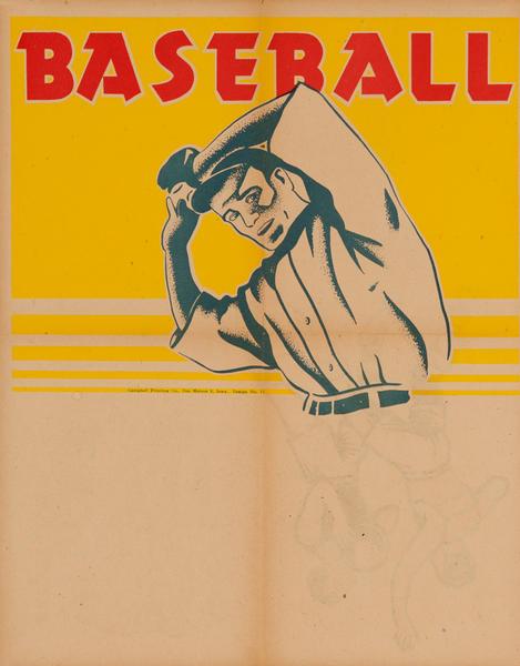 Campbell Print Company Stock Poster, Baseball Pitcher
