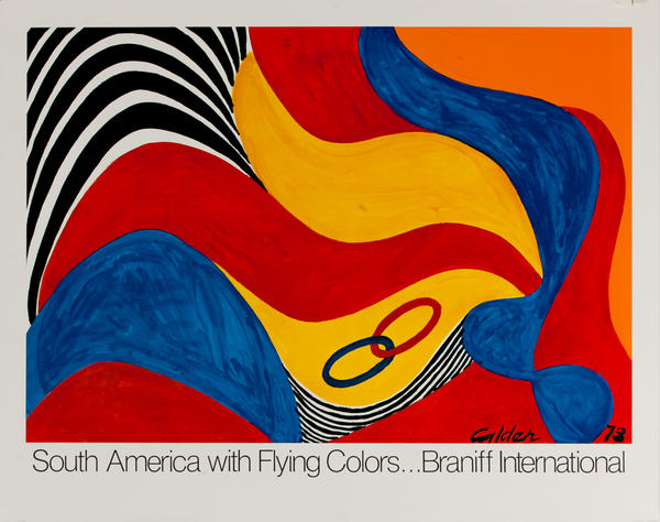 South America With Flying Colors, Original Braniff International Poster, mediul size