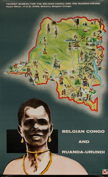 Belgian Congo and Ruanda-Urundi, Original African Travel Poster