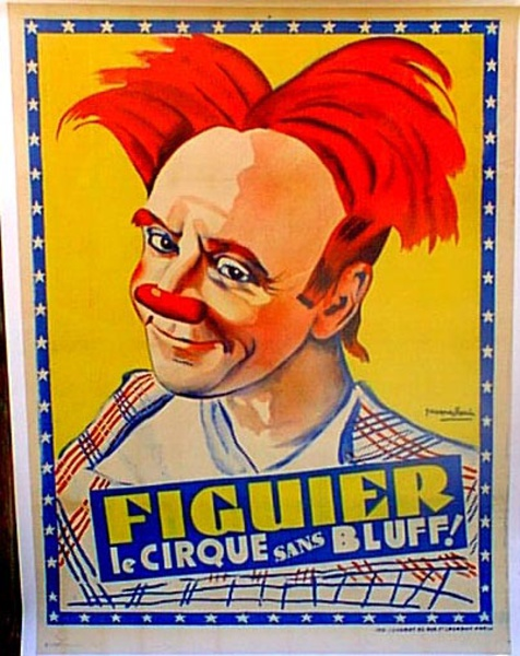 Cirque Figuier Original Vintage Poster red hair