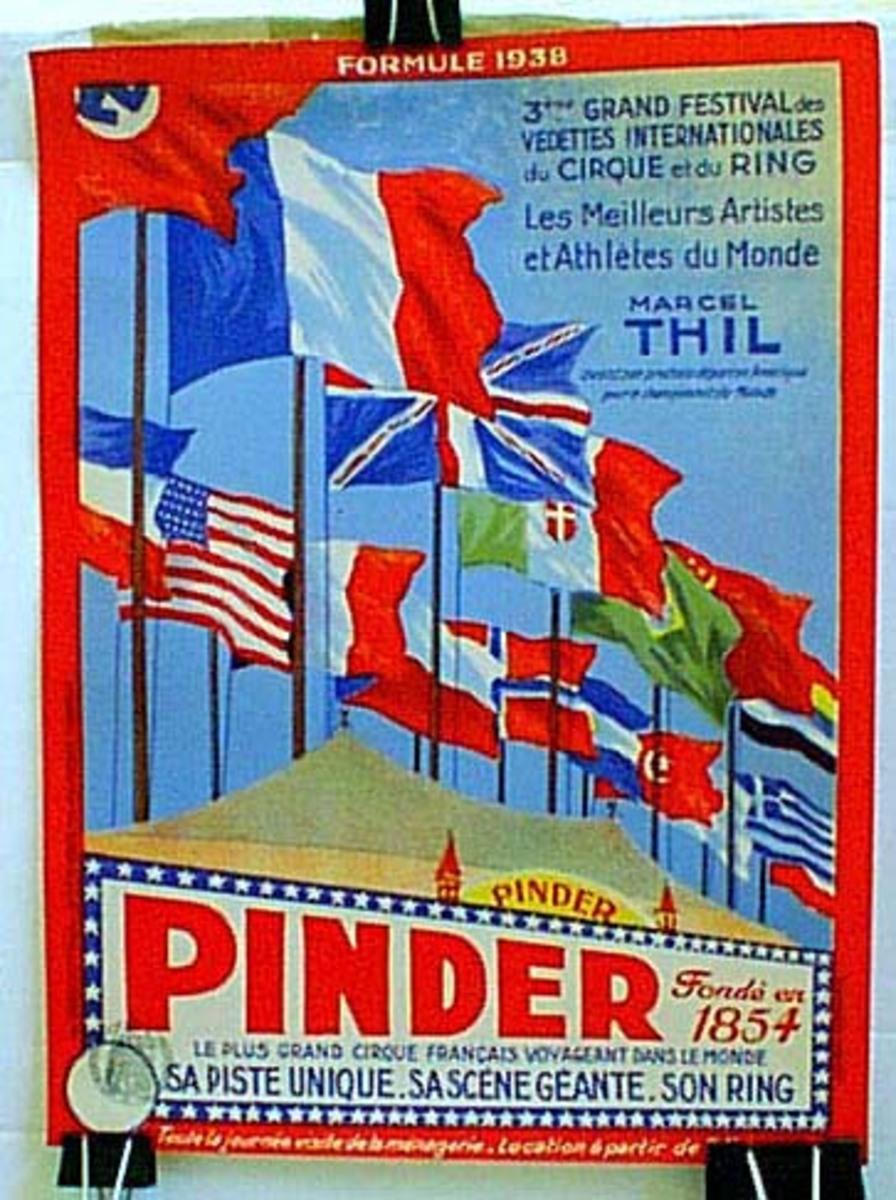 Cirque Pindar Original Vintage Poster flags