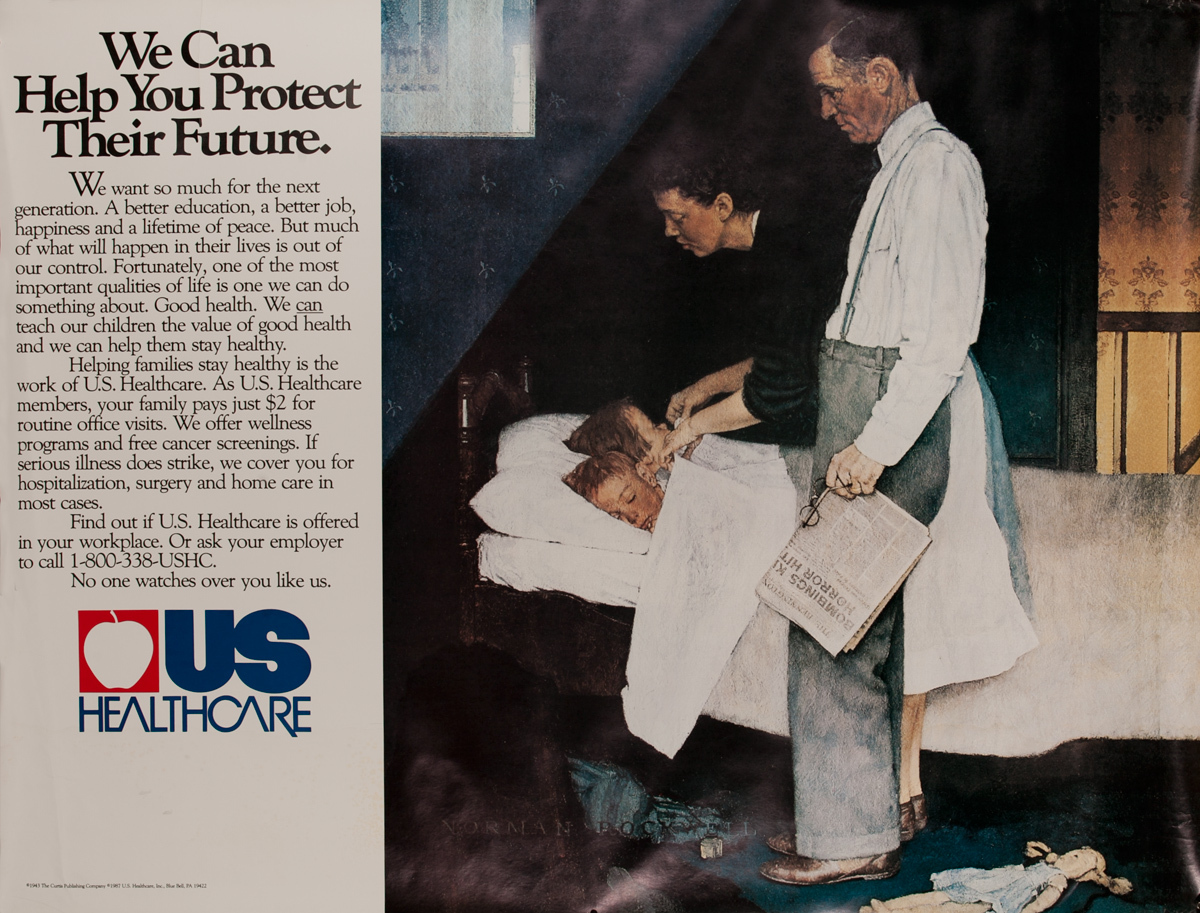 We Can Help You Protect Their Future, US Healthcare Original Adveritising Poster