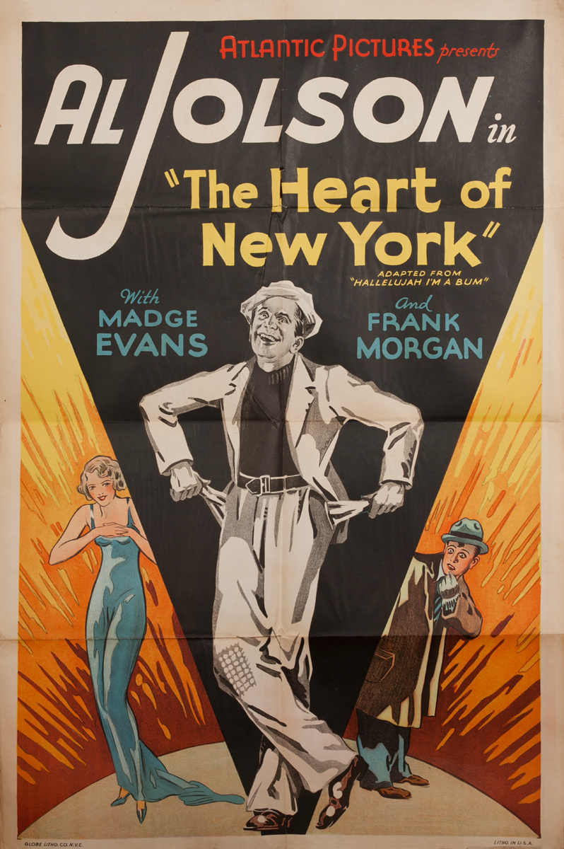 Atlantic Pictures, The Heart of New York, Original American Movie Poster