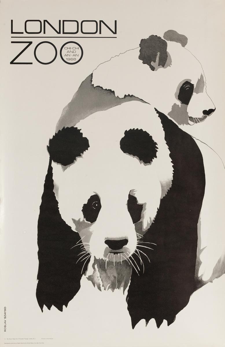 Original London Zoo Panda Poster Chi-Chi An-An