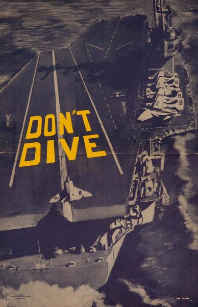 Original Vietnam War Era  Military Flight Safety Poster,