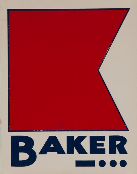 Original Naval Pennant Traning Chart Poster, Alphabet B