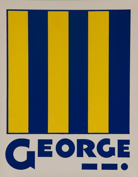 Original Naval Pennant Traning Chart Poster, Alphabet G