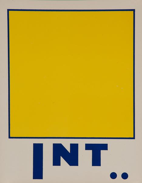 Original Naval Pennant Traning Chart Poster, Alphabet I