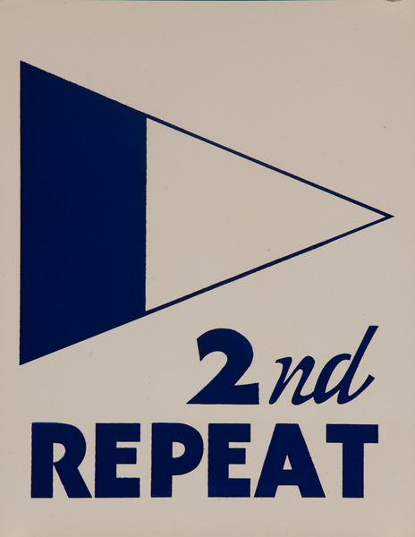 Original Naval Pennant Traning Chart Poster, 2nd Repeat