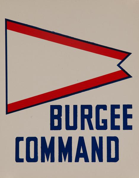 Original Naval Pennant Traning Chart Poster, Burgee Command