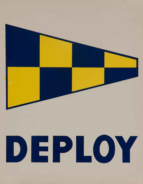 Original Naval Pennant Traning Chart Poster, Deploy