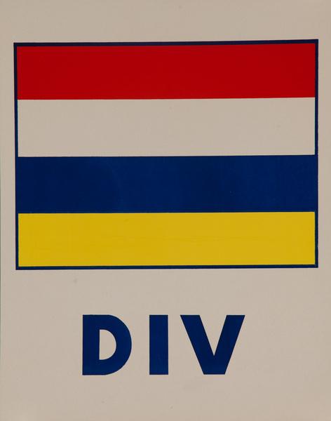 Original Naval Pennant Traning Chart Poster, DIV