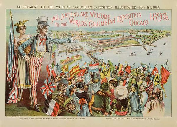 Original 1893 Chicago World's Columbian Exposition Poster