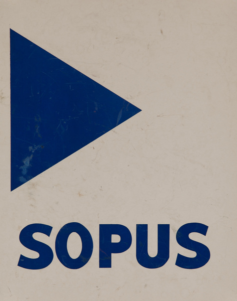 Original Naval Pennant Traning Chart Poster, SOPUS