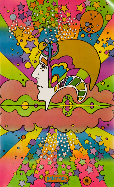 Capitol Record Psychedelic Promo Poster