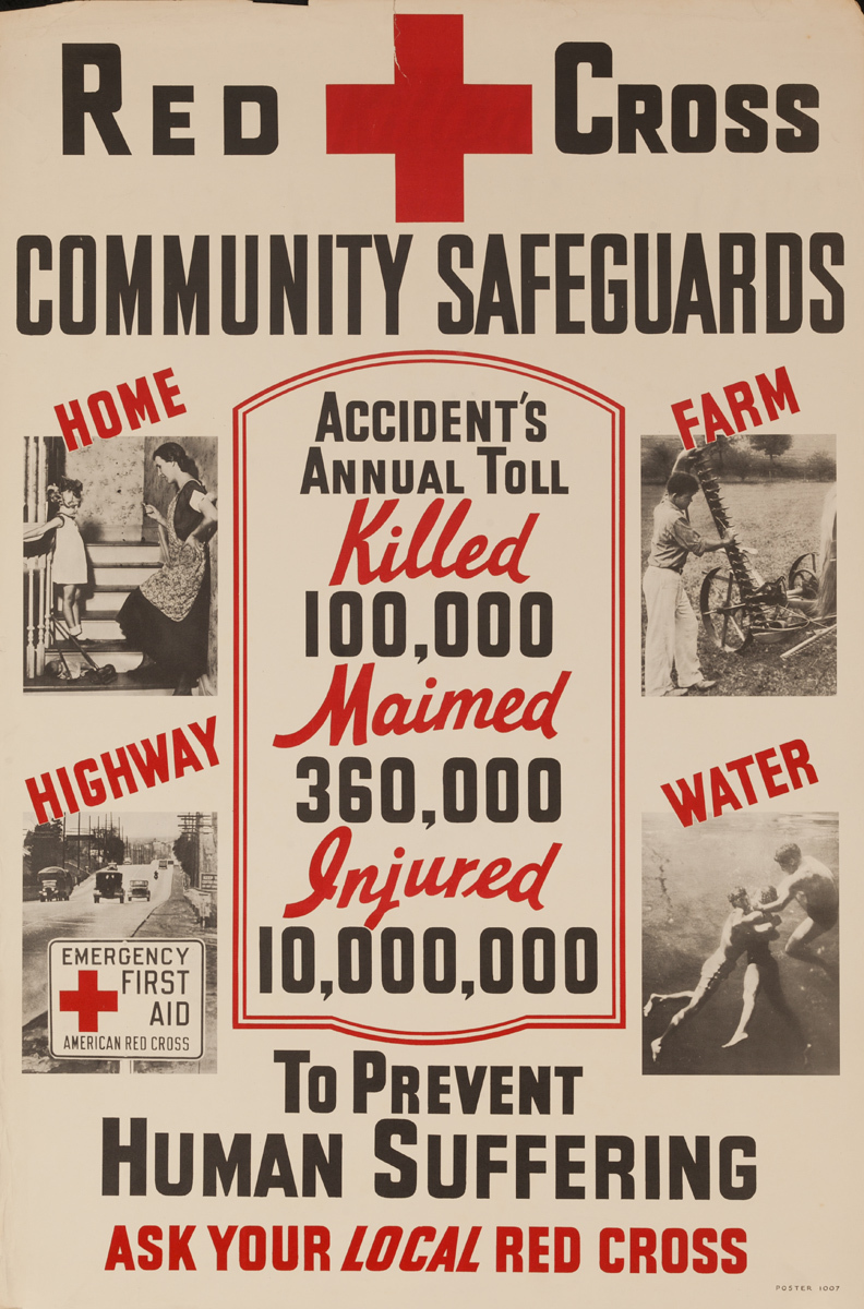 Community Safeguards, to Prevent Human Suffering, Original American Red Cross Poster