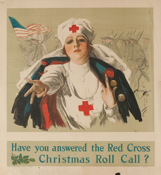 Have You Answered the Red Cross Christmas Roll Call, Original American Red Cross Poster