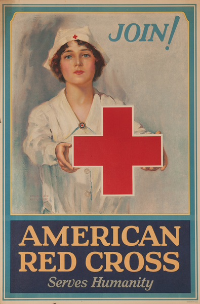 Join, American Red Cross Serves Humanity, Original Poster