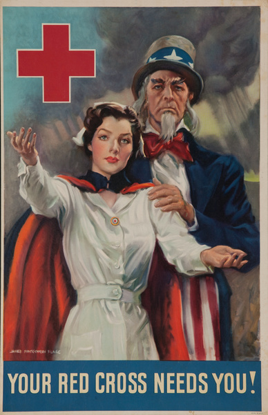 Your Red Cross Needs You!, Original American Red Cross Poster