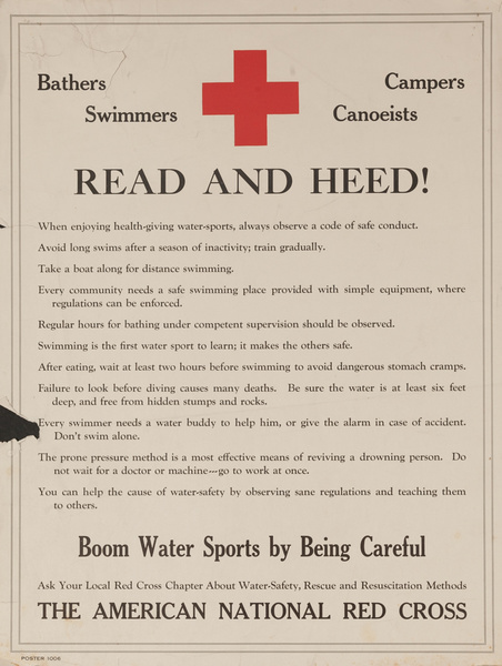 Read and Heed!, Original American Red Cross Poster