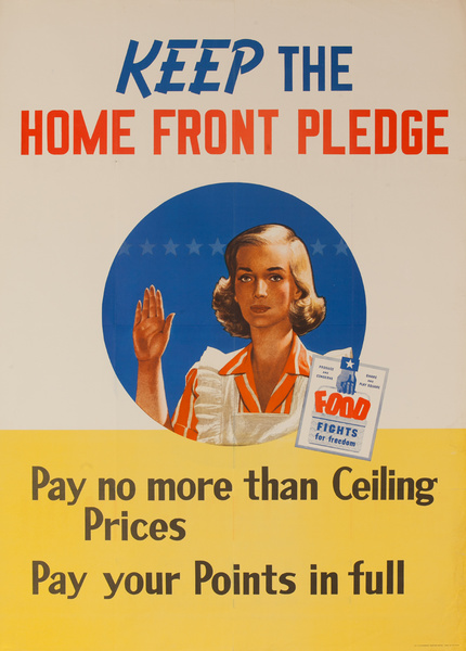 Keep the Home Front Pledge, Original American Conservation Poster