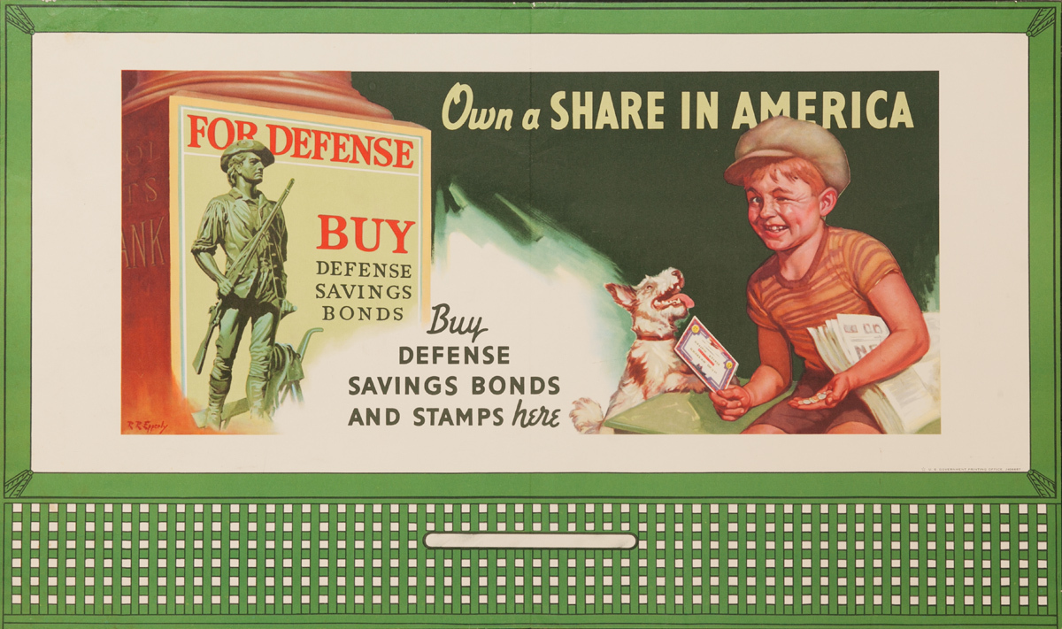 Own A Share in America, Original American WWII Poster