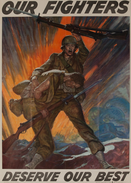 Our Fighters Deserve Our Best, Original American WWII Homefront Production Poster