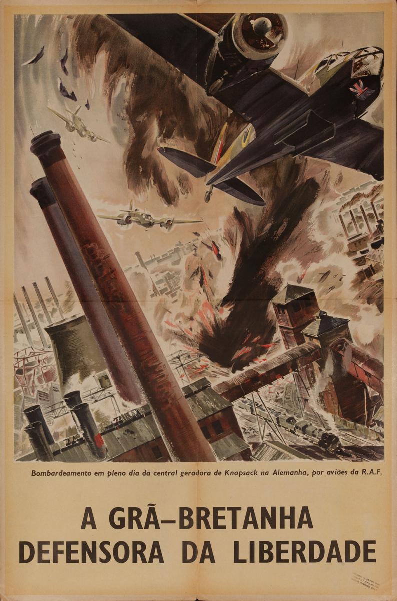 A Gra - Bretanha Defensora da Liberdade, Great Britain, Defender of Liberty, Original British WWII Poster