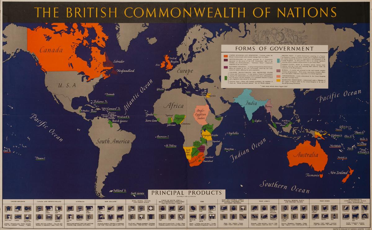 The British Commonwealth of Nations, Original British WWII Poster