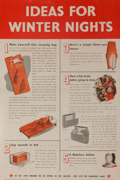 Ideas for winter nights, Original British WWII Poster